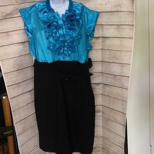 Women's size 22 Black and Turquoise dress